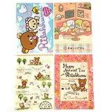 San-X Rilakkuma, Sumiko Gurashi, Black Cat Character Plastic File Folder 4 Assorted Color / A4 File Folder (E)