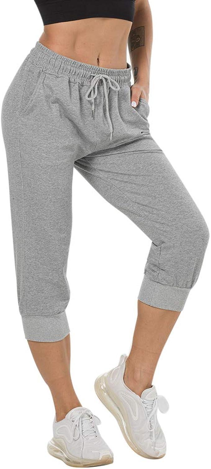 Pantalon Chandal Y Deportivo Para Mujer Pantalones De Estilo Libre Largo Suelto Elastico Para Corredores Pantalon Con Bolsillos Y Cordon Ajustable Para Deporte Yoga Gimnasio Amazon Es Ropa Y Accesorios