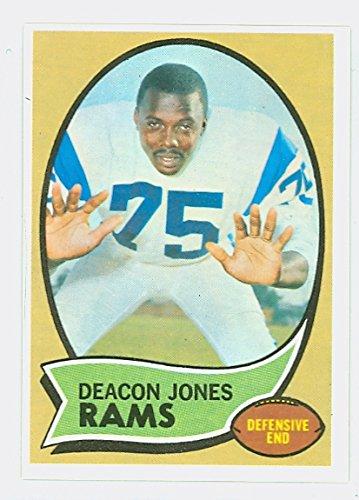 1970 Topps Football 125 Deacon Jones Los Angeles Rams Near-Mint