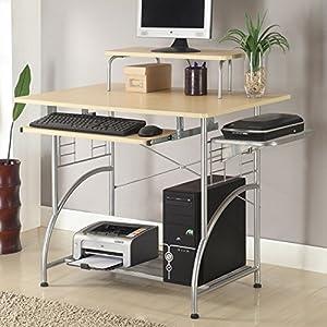 Amazon Com Ergocraft C 1122 Cormac Computer Desk Maple