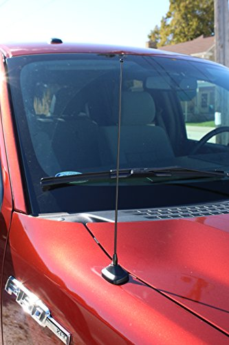 AntennaMastsRus - 15 Inch Black Antenna is Compatible with Toyota Celica, FJ Cruiser, Highlander, MR2, RAV4, Sequoia, Sienna, Tacoma, Tundra, T100, 4 Runner Spring Steel