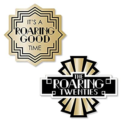 Big Dot of Happiness Roaring 20's - DIY Shaped 1920s Art Deco Jazz Party Cut-Outs - 2020 Graduation and Prom Party - 24 Count: Toys & Games