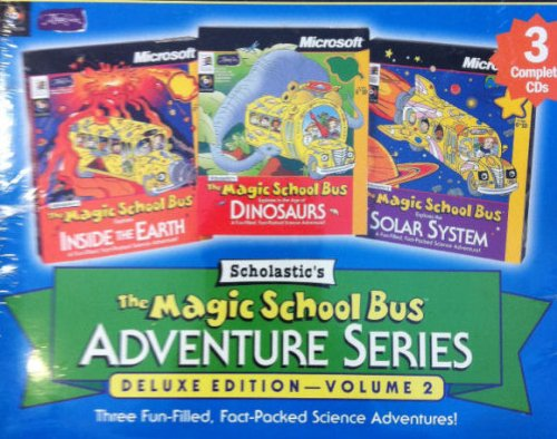 The Magic School Bus - 3 Pack Adventure Series - Deluxe Edition Volume 2 - Inside the Earth, Dinosaurs and Solar (Deluxe Bus)