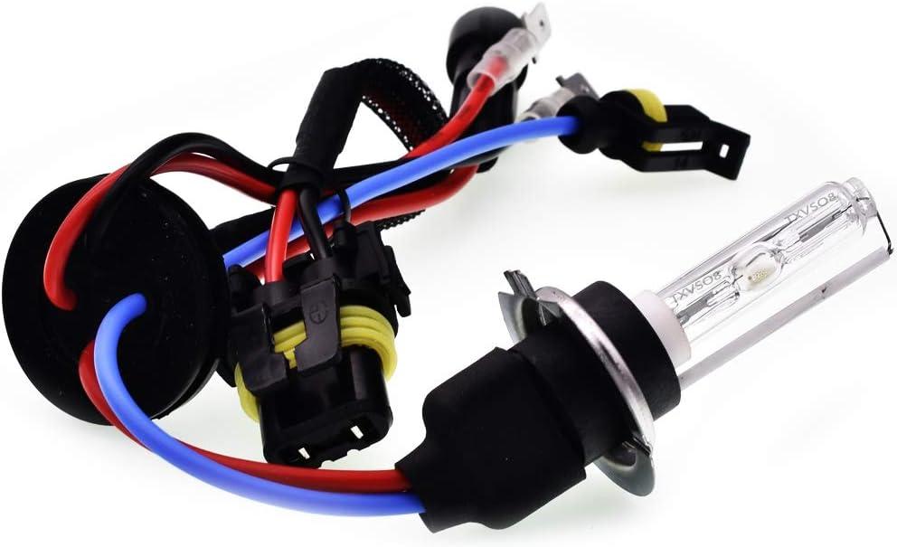 2pcs // ensemble blanc 6000k Sipobuy H7 35W HID ampoules de rechange phare ampoule x/énon base en m/étal