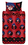 Miraculous Lady Bug Girl Single Red Duvet Cover Set + Pillowcase