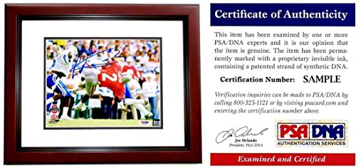 Cris Carter Signed Photograph - 8x10 inch MAHOGANY CUSTOM FRAME Chris Certificate of Authenticity COA) - PSA/DNA Certified (Cris Carter Photograph)