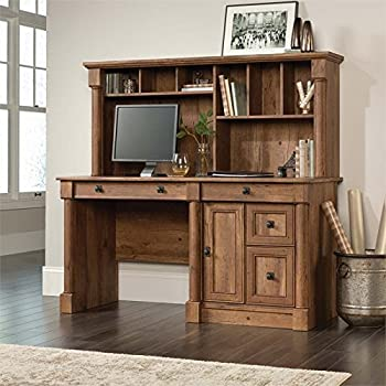 Amazon Com Sauder Harbor View Computer Desk With Hutch In
