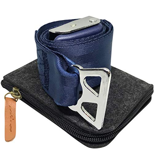 - Airplane Seatbelt Extender (Blue, for Southwest Airlines) Type B - Includes Bonus Felt Zipper Pouch Carrying Case | by journeyxl