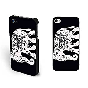 New Classic Black and White Tribal Elephant 4 Protective Cases Cool Indian Graphics Custom Diy For Touch 4 Case Cover Cute Animal Cases