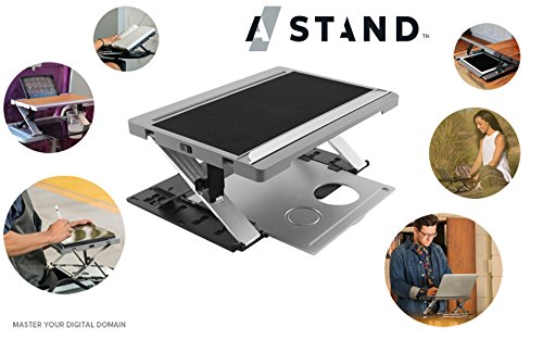 A-STAND: Computer Stand - Lap Desk - Tablet Case - Tablet Easel - Travel Tray GREY