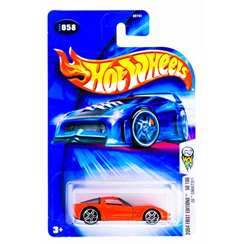 Hot Wheels 2004-058 First Editions 58/100 RED C6 Corvette 1:64 Scale