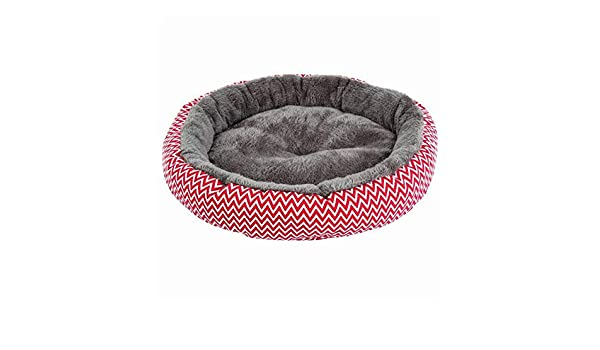 Amazon.com : quynhchi store pawstrip Soft Plush Winter Dog Bed Round Cat Bed Warm Puppy Cushion Chihuahua Teddy Small Dog Bed House Pet Bed for Dogs Cat ...