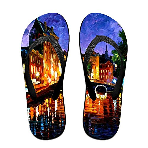 Slippers Flip Flops for Black Men Women Kids Bridge PTJHKET Painting Oil xg4wSSCq