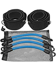 Träningsband Motståndsband - Set Kinetic Speed Agility Training Rubber Bands Exercise Elastic Bands for Fitness Workout Equipment Lätt bärbar (Color : #004)