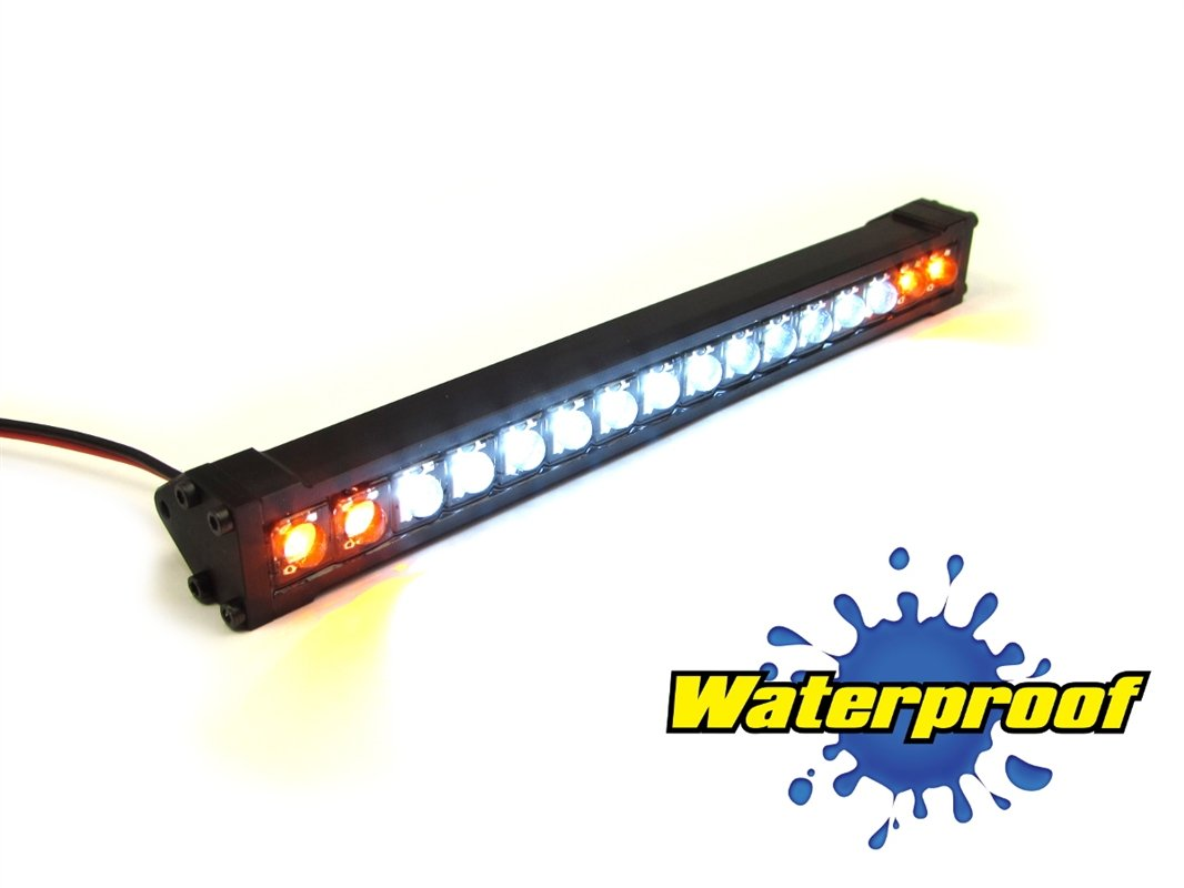 Gear Head RC 1/10 Scale Trek Torch 5'' LED Light Bar - White and Amber