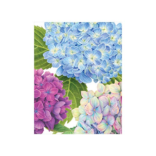 Caspari Hydrangea Garden Gift Enclosure Cards, 12 with Envelopes