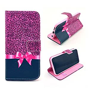 """For iphone 6 ( 4.7inch ) Case, FocusUp Leopard Bow Design Premium PU Leather Card Slot Flip Magnetic Closure Folio Stand Protective Wallet Cover For Apple iphone6 4.7 """""""