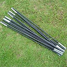 Fiberglass Tent Pole Kit 9 Sections Lightweight Camping Travel Tent Frame Repair Replacement