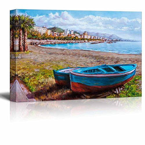 Painting of a Coastal Landscape Home Deoration Wall Decor ing ped