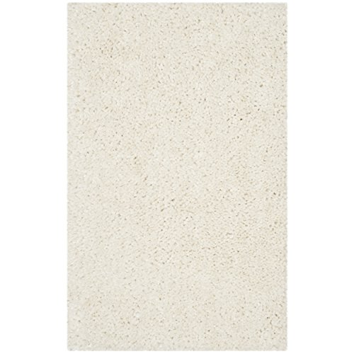 Safavieh Popcorn Shag Collection SG267A Handmade Ivory Polyester Area Rug (2'6