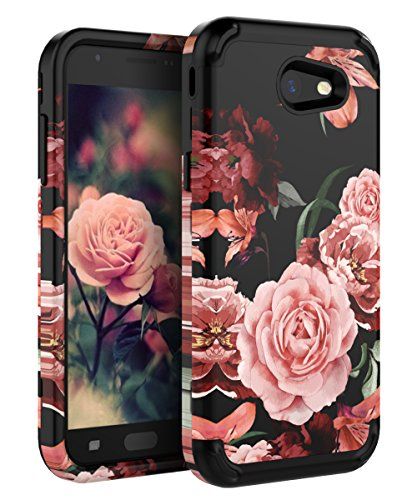 TIANLI Samsung Galaxy J3 2017 Case Shock Absorption Protective Three Layer Protection Case for Galaxy J3 Emerge/J3 Prime/J3 Mission/J3 Eclipse/J3 Luna Pro/Express Prime 2/Amp Prime 2/Sol 2 - Black