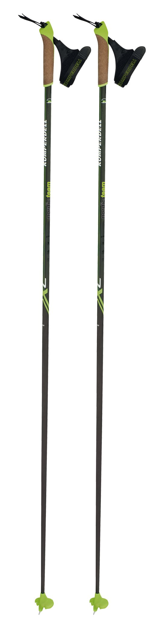 Komperdell 520230610 Nordic Carbon Team, Black, 145cm by Komperdell