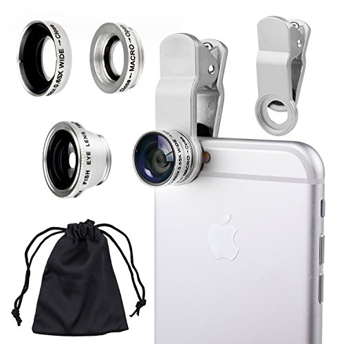 Universal 3 in 1 Camera Lens Kit for Smart phones (including iPhone, Samsung Galaxy, HTC, Motorola...
