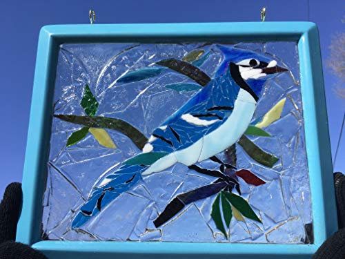 Blue Jay Stained Glass Window Sun Catcher