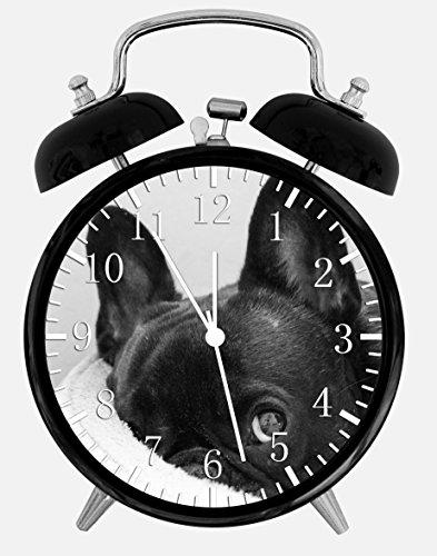 - Cute French Bull Dog Alarm Desk Clock 3.75