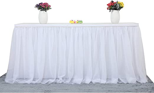 14ft Classic Red Wedding Birthday Party Tableware Plastic Table Skirt