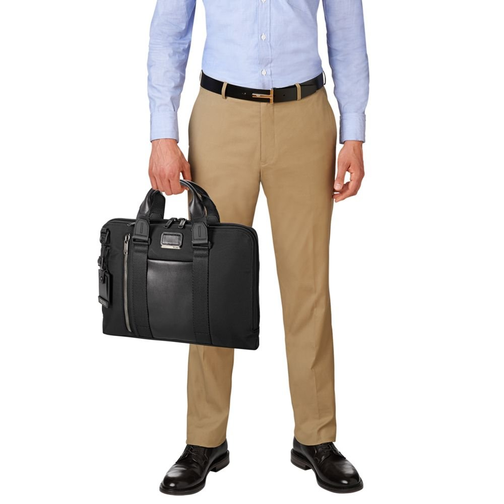 TUMI - Alpha Bravo Aviano Laptop Slim Brief Briefcase - 15 Inch Computer Bag for Men and Women - Black by TUMI (Image #8)