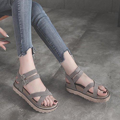 Tacones Calzado Para 29yehwdi Mujer Tobillo Chancletas Sandalias Vintage KTlF1cJ3