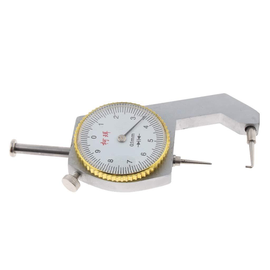 0,01 mm EIN//AUS oder automatisches Ausschalten perfk Elektronisches Dickenmessger/ät mit elektronischer Dickenmessung 0-10mm