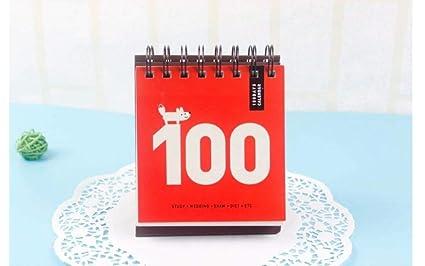 Amazoncom 100 Day Countdown Calendar Daily Planner Desk Calendar