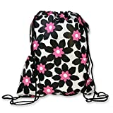 Exultimate Draw Drawstring Bag Pouch (Black|Pink|White Daisy) For Sale