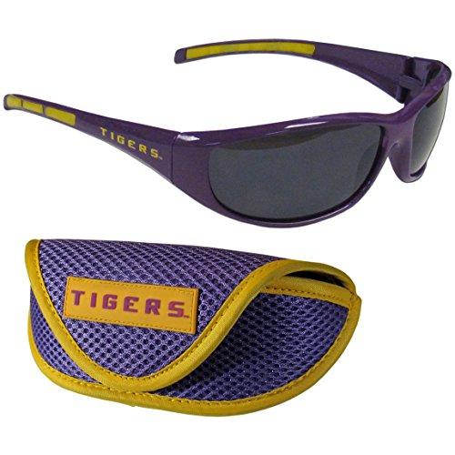 Siskiyou NCAA LSU Tigers Wrap Sunglasses & Sport Case, Purple (Lsu Items)