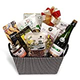Snack Food Gift Basket - Sparkling Juice - Prime Delivery - Nuts, Crackers, Olives, Cheese, Pretzels, Bruschetta - Birthday, Get Well, Anniversary, Corporate, Holiday - by Pellatt Cornucopia