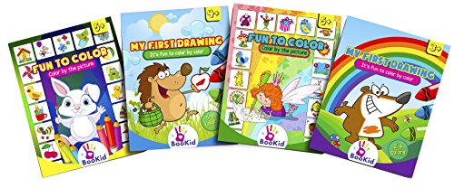 Activity Books For Kids Age 3-5 - Pack of 4 Includes It's Fu
