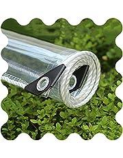 HLLING Duidelijke Waterdichte Tarp Covers Regendicht Met Oogjes 0.35mm Dikke PVC Zachte Glas 450g/m2 Outdoor Luifel Luifel
