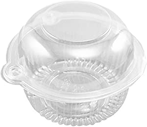 Individual Cupcake Holder - Clear Plastic Dome Single Cupcake Carrier Muffin Container Holders Cases Boxes Cups(50pcs)