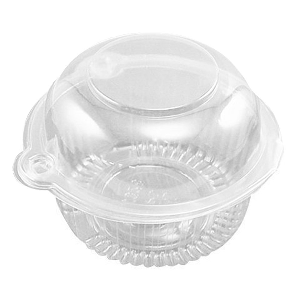 Aketek 50 x Plastic Single Individual Cupcake Muffin Dome Holders Cases Boxes Cups Pods Aketek-BZH821
