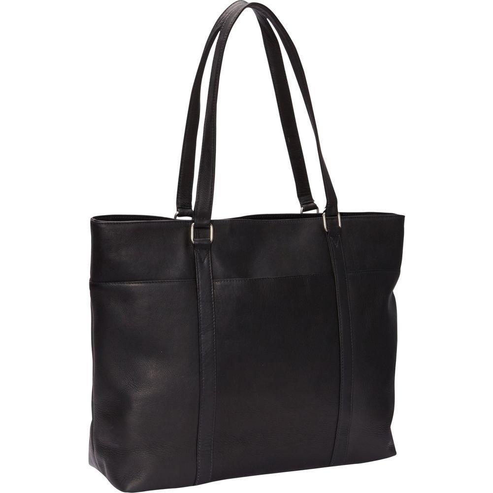 Le Donne Leather Women's Laptop Tote Bag, Black, Medium