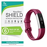 (6-Pack) RinoGear for Fitbit Alta HR Screen Protector (Also Works for Fitbit Ace/Alta 2016) Case Friendly Screen Protector for Fitbit Alta HR Accessory Full Coverage Clear Film