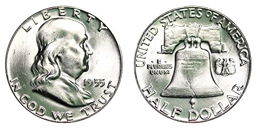 - 1955 P Franklin Half Dollar BU Half Dollar Brilliant Uncirculated (1/2) Choice Brilliant Uncirculated