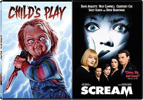 Childs Play Chucky Killer Horror + Wes Craven's Scream slasher Movie -