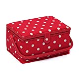 Hobby Gift Medium Sewing Basket - Red Spot