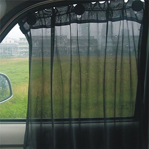 Aumo-mate 2 Pack Car Sun Shade Side Window Curtain Sun Uv Protection Mesh Fabric Suction Cup/Made...
