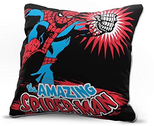 Jay Franco Marvel Avengers Amazing Decorative Pillow Cover - Kids Super Soft 1-Pack Throw Pillow Cover Features Spiderman - Measures 15 Inches x 15 Inches (Official Marvel Product)