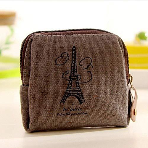 Camera Girl Retro Card Tower Pouch Case Canvas Handbags Coin Purse Wallet (size - -