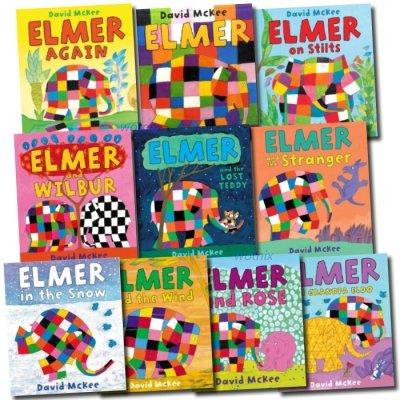 - Elmer the Elephant Collection 10 Books Set: Elmer Elmer on Stilts Elmer and Wilbur Elmer in the Snow Elmer And The Wind Elmer and the Lost Teddy Elmer and the Stranger Elmer and Grandpa Eldo Elmer and Rose Elmer Again (ELMER THE ELEPHANT, VOLS 1-10)